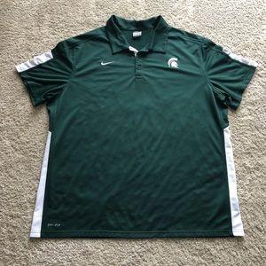 Michigan State Spartans Nike Dri Fit Polo Shirt